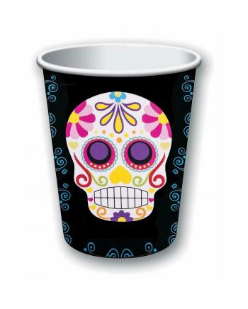 Dia De Los Muertos Sugar Skull Pappbecher