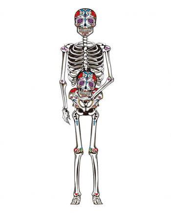 """Day of the Dead"" Skelett Wand Deko 150 cm"