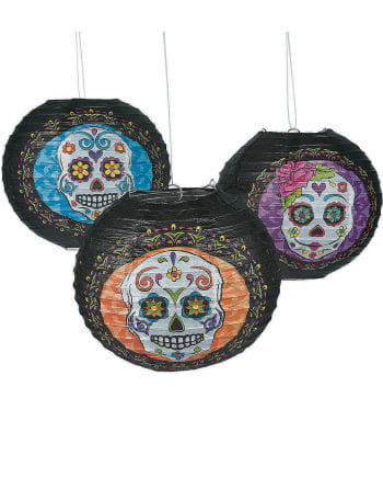 Sugar Skull Laternen 6er Pack