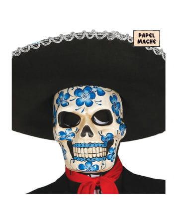 Totenkopf Maske mit Blumenmotiv