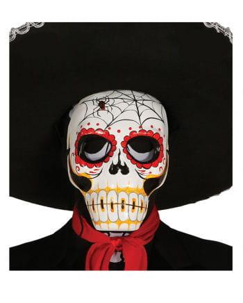 Totenkopf Maske mit Spinnenmotiv