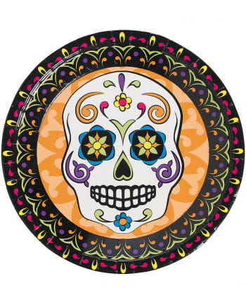Day of the Dead paper plate 8 pcs.