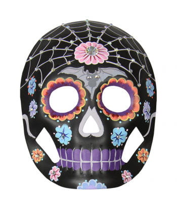 Florale Day of the Dead Maske mit Strasssteinen