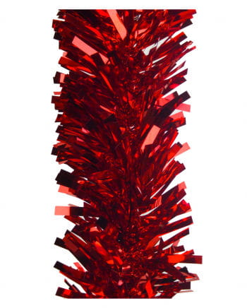Decorative Foil Cut Garland Red