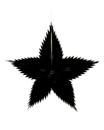 Spitzschnitt Stern schwarz 65cm