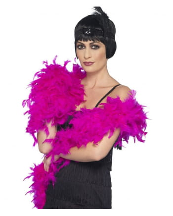 Deluxe Feather Boa Fuchsia 180cm