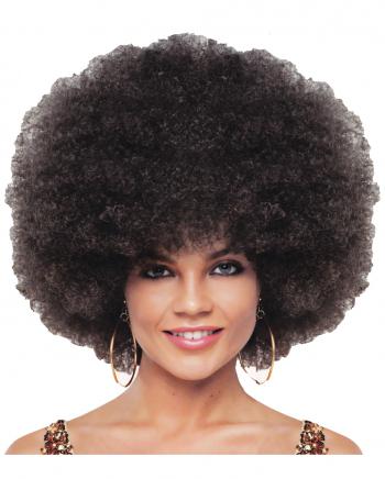 Braune Deluxe Jumbo Afro Perücke