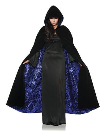 Deluxe Hooded Cape Black-violet