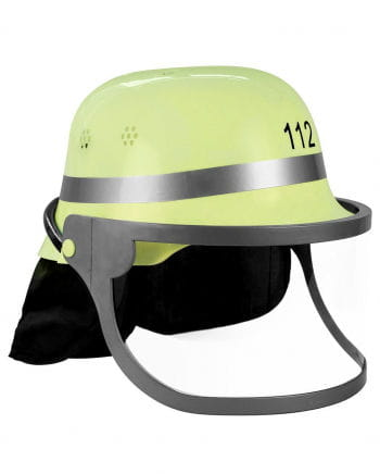 German Fire Helmet With Folding Visor