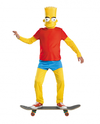 Bart Simpson Deluxe Costume For Children