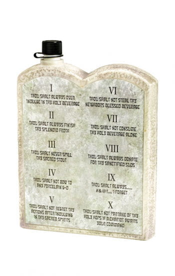 The 10 Commandments liquor bottle
