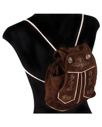 Traditional leather backpack dark brown