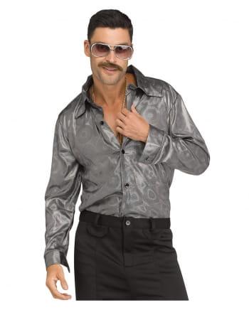 Silbernes Herren Disco Hemd