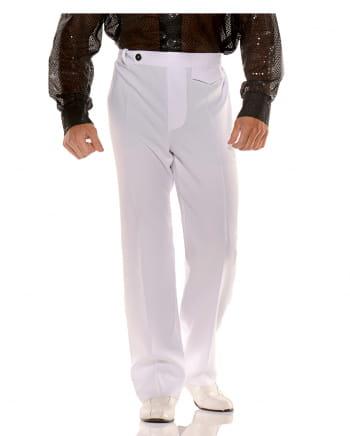 70er Jahre Kostümhose weiß
