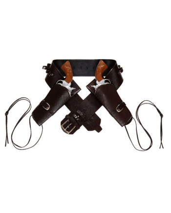 Double Western Leatherette Holster