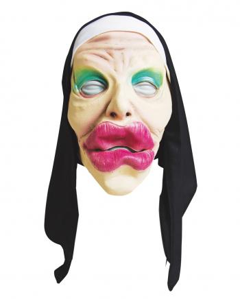 Drag Queen Klosterschwester Maske