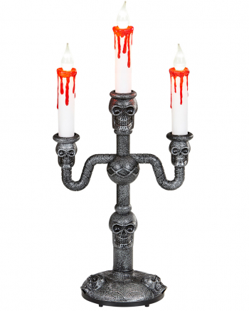 Three-armed Halloween LED Candle Holder