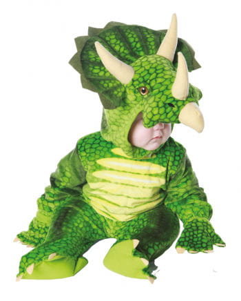 Three Horn Dino Child Costume Green L