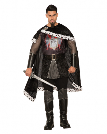 Bad King Costume With Cape For Adults