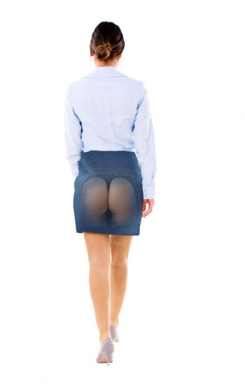 Transparent skirt with thong