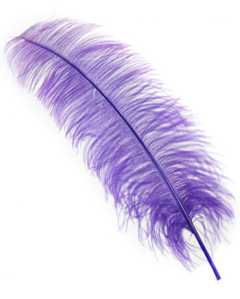 Real Ostrich Feather Purple 60cm