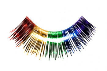 Real Hair Eyelashes Rainbow