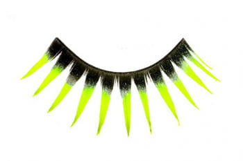 Real Hair Eyelashes Black / Neon Yellow