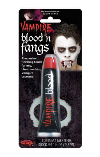 Vampire teeth with blood Economy