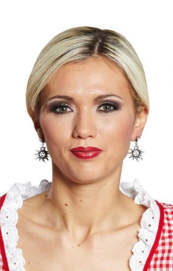 Elegant White Earrings With Strass