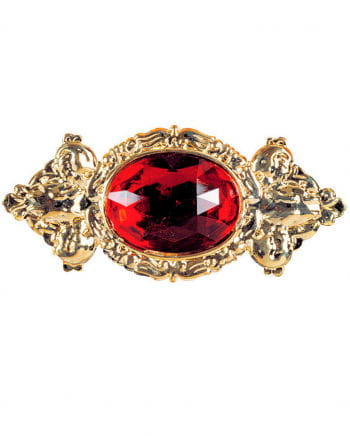 Edle Riesenbrosche mit rotem Stein