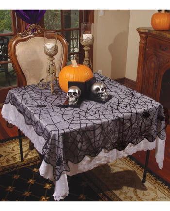Schwarze Spinnennetz Tischdecke 99 x 200 cm
