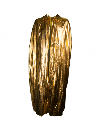 Noble Metallic Cape In Gold