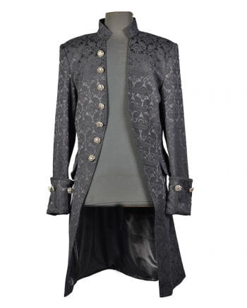 Brokat Männer Mantel schwarz