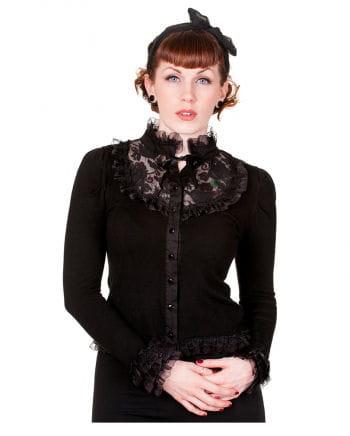Gothic Cardigan mit Rüschen