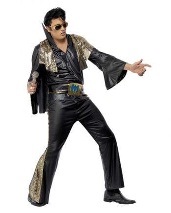 Elvis Kostüm Schwarz/Gold