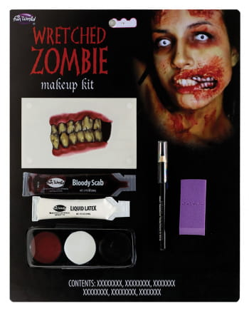 Infested Zombie Makeup Kit