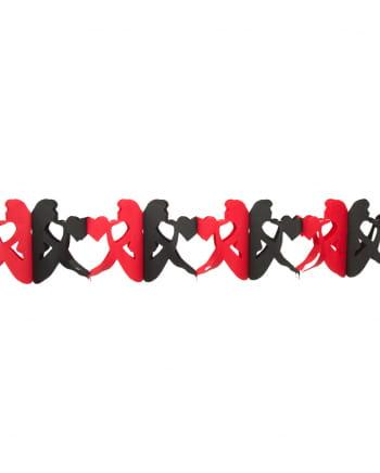 Schwarz-rote Girlande Herzdame