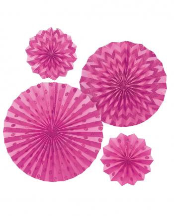 Pinkes Fächer-Deko Set