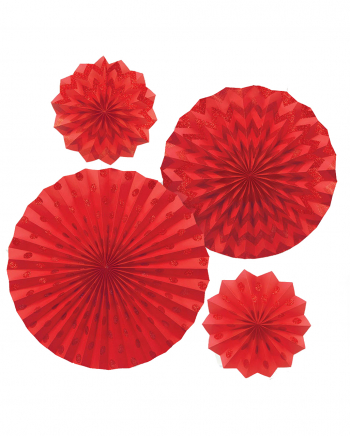 Fan Deco Set Red