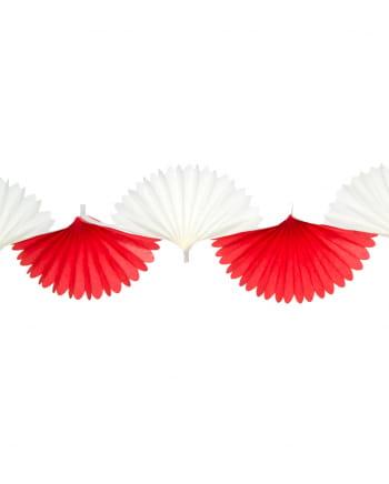 Rot-weiße Fächergirlande 3m
