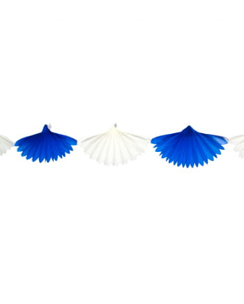 Fan garland white-blue 3m