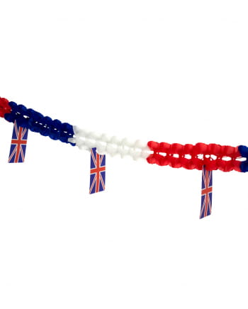 Honeycomb Garland with flags Great Britain 4m