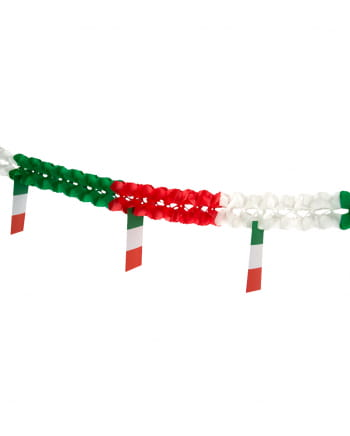 Honeycomb garland with flags Italy 4m