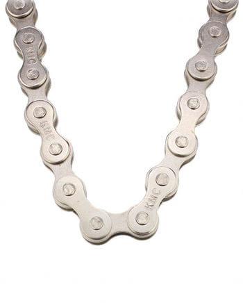 Halsband Fahrradkette silber