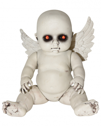 Fallen Angel Halloween Doll With LED Eyes