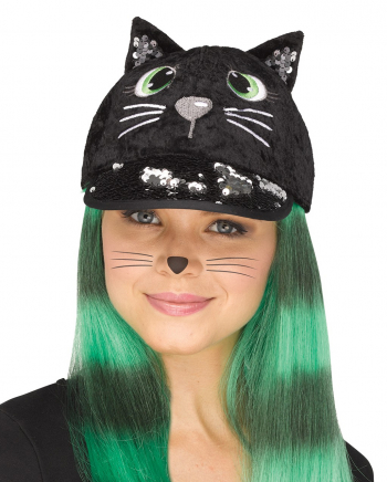 Fancy Black Cat Cap