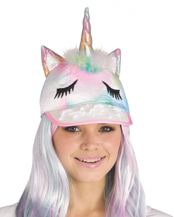 Fancy Regenbogen Unicorn Cap
