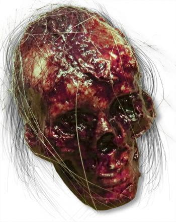 Faulender Totenschädel mit Haar Latex klein
