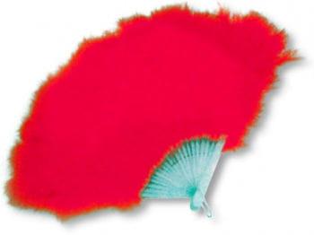 Feder Fächer rot
