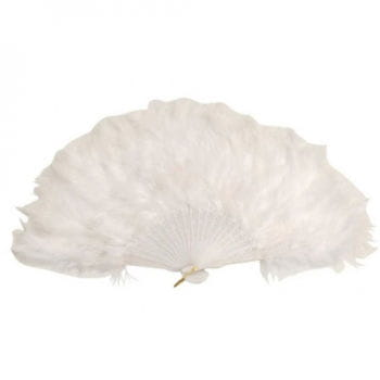 White Burlesque Feather Fan XXL 50cm